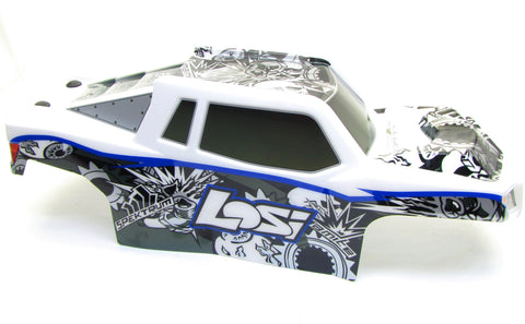 Electric Losi 3XL-E BODY blue cover shell Rear Swivel mount Painted LST LOS04015