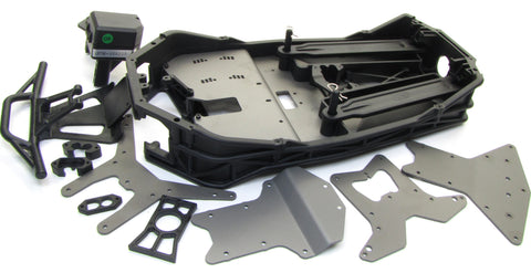 Electric Losi 3XL-E CHASSIS (plates side rails skid bumper receiver box LOS04015