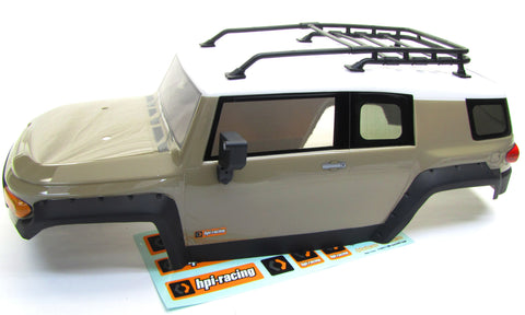 Venture Toyota FJ Cruiser BODY painted Cover Shell sandstorm gold HPI new 116558