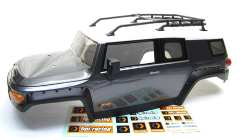 Venture Toyota FJ Cruiser BODY painted Cover Shell Gunmetal Silver HPI 116558