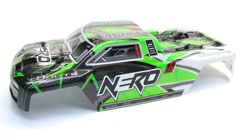 Arrma NERO Body Shell (GREEN BLX painted polycarbonate cover AR106017