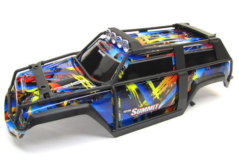 1/16 Summit BODY (Painted Shell Cover, Lights Decals Rock n Roll Traxxas 72054-5