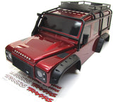 TRX-4 DEFENDER - BODY (Red) Spare Tire Fenders Land Rover Trail Traxxas 82056-4