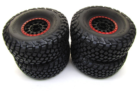 Unlimited Desert Racer UDR - TIRES & WHEELS (RED) Baja KR3 glued Traxxas 85076-4