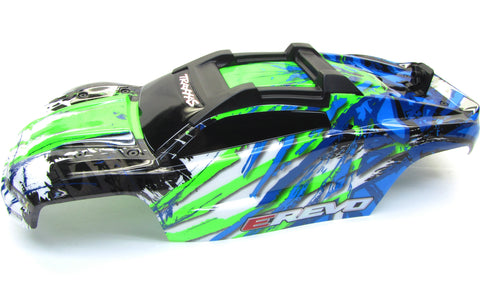 1/10 BRUSHLESS E-REVO 2.0 VXL BODY shell (GREEN blue cover clipless 86086-4