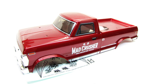 Nitro Mad CRUSHER BODY cover (RED Truck shell kyosho MAB401 KYO33152B