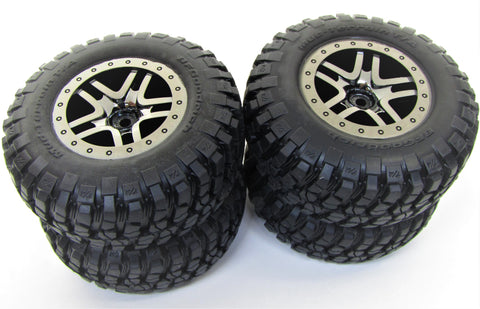 SLASH 4x4 ULTIMATE TIRES BLACK S1 BFG RACING COMPOUND 12mm Tyres Traxxas 68077-4