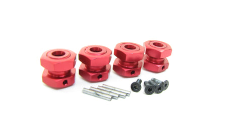 Arrma TYPHON 4x4 3s BLX - 17mm RED Aluminum wheel HEX HUBS Nuts ARA4306V3