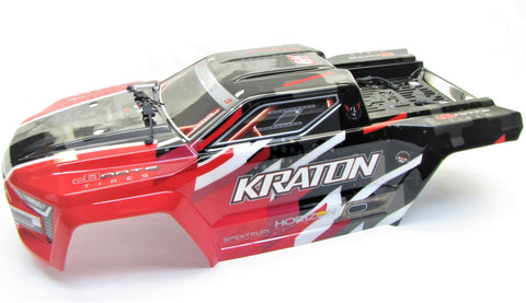 Arrma KRATON 6s V5 BLX - Body Shell ( Red polycarbonate cover & Body Pins ARA8608V5