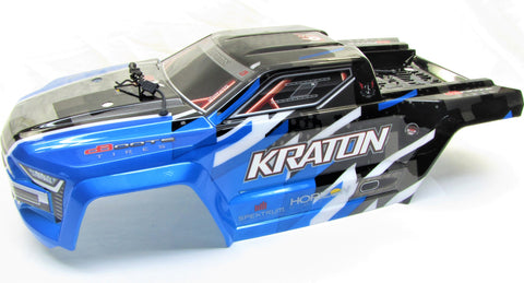 Arrma KRATON 6s V5 BLX - Body Shell (BLUE polycarbonate cover & Body Pins ARA8608V5