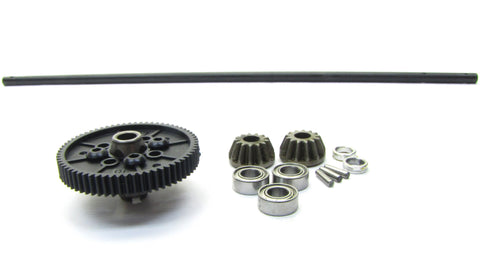 RS4 Sport 3 Flux Falken - CENTER drive shaft & 66t Spur Gear, gear hub 114350