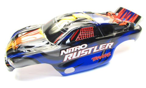 Nitro RUSTLER - Body Shell (BLUE) Cover ProGraphix Graphics 2.5 Traxxas 44096-3