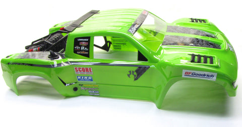Axial Yeti SCORE BODY Shell (painted green cover Trophy TT-380 & Tire AX90050