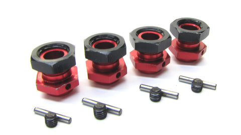 Arrma KRATON 6s V5 BLX - 17mm Hex Hubs (16.5mm Adaptors Wheel Red nuts ARA8608V5