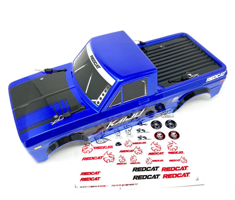 Kaiju 1/8 - BODY Cover (Blue Factory painted, cut & decals shell Redcat Racing