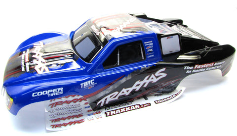 Nitro Slash BODY Shell (Blue Painted Cover & Decals prographix Traxxas 44056-3
