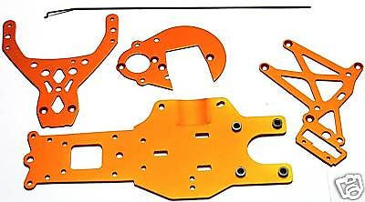 BAJA 5B SS ORANGE 87482 87484 Anodized CHASSIS Plates & Braces)  HPI 112457