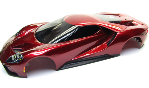 4-TEC 2.0 Ford GT Body, Painted RED 8311r shell cover Traxxas 83056-4