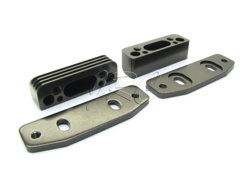 Kyosho ST-RR EVO.2 ENGINE MOUNTS, plate gunmetal TKI3 TKI2 MP9 Inferno KYO33004B