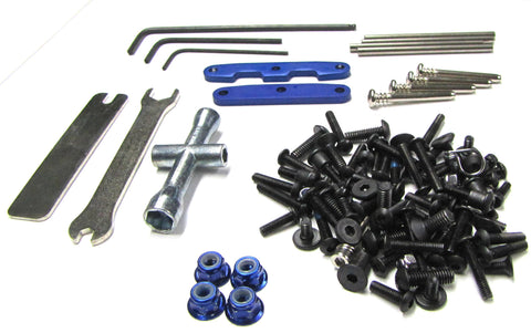 SLASH 4x4 ULTIMATE SCREWS & TOOLS Set wheel nuts suspension pins Traxxas 68077-4