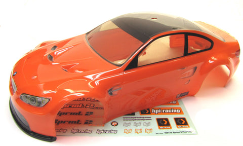 SPRINT 2 hpi BODY shell (ORANGE BMW M3 GTS 200mm cover Flux 106168