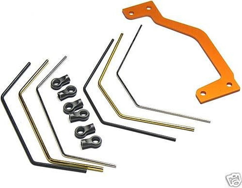 BAJA 5B SS STABILIZER SET (support rods braces ends 86618 87488)  HPI 112457