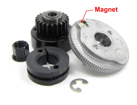 T-Maxx 3.3 CLUTCH, bell and GEAR 4122 with MAGNET (shoes nut 49077-3 Traxxas