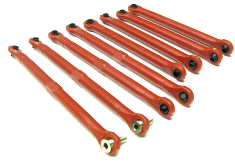 1/16 Summit TIE / PUSH RODS (toe link front rear E-revo red Traxxas VXL 72054-5