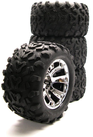 "Nitro Revo 6.3"" Maxx TIRES & Geode WHEELS 17mm splined hex (tyres) 4973 5671 Traxxas 5309"