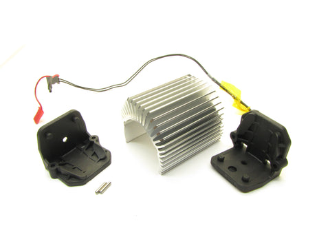 X-MAXX Aluminum Heat Sink & Motor Mounts (Fits Velineon brushless 1600XL) Traxxas 77086-4