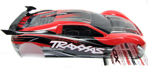 XO-1 UPDATED BODY shell RED  (painted cover & decal Traxxas 64077-3