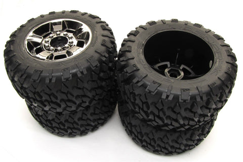 Arrma NERO TIRES & Wheels (tyres rims DBoots Ragnarok MT 17mm Big Rock AR106017