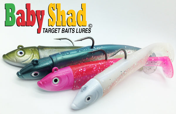 Baby shad soft bait lures for striped bass fishing in new brunswick