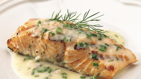 Creamy Baked Salmon with Herbs