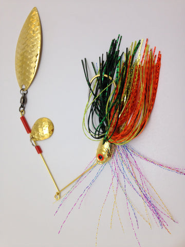 Fishing Spinnerbait lure tandem blades