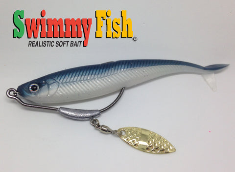 swimmy fish with hook weedless with blade