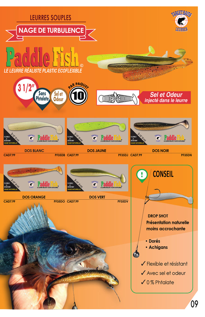 catalog fishing lure paddle fish from target baits ontario online shopping tackle