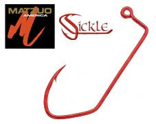 Matzuo Hook red RED SICKLE HOOKS 90° LEG Red and Black