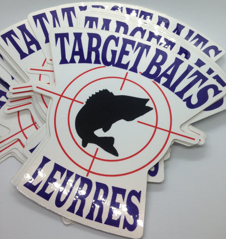 Stickers TARGET BAITS LEURRES