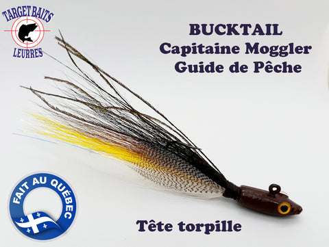 BUCKTAIL CAPITAINE MOGGLER - TÊTE TORPILLE