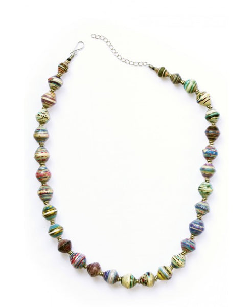 Recycled Paper Necklace - Peace of the Earth