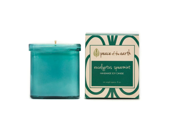 Eucalyptus Spearmint Soy Candle - Peace of the Earth