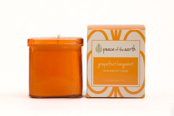 Grapefruit Bergamot Soy Candle - Peace of the Earth