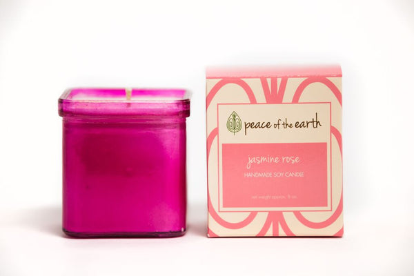 Jasmine Rose Soy Candle - Peace of the Earth