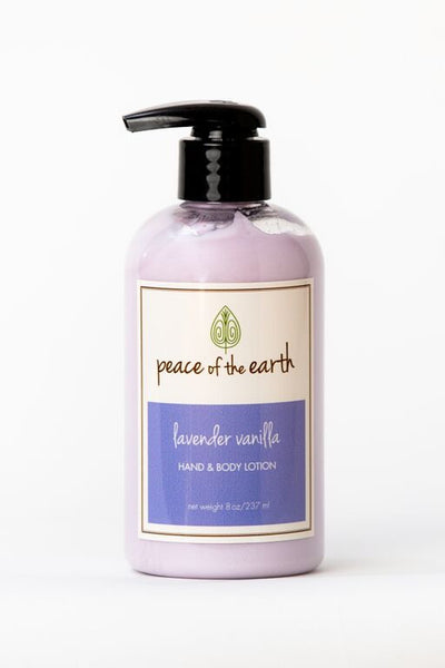 Lavender Vanilla Hand and Body Lotion - Peace of the Earth