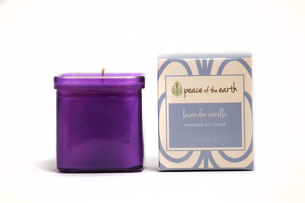 Lavender Vanilla Soy Candle - Peace of the Earth
