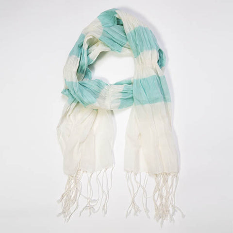 Mint Cotton Scarf - Peace of the Earth - 1