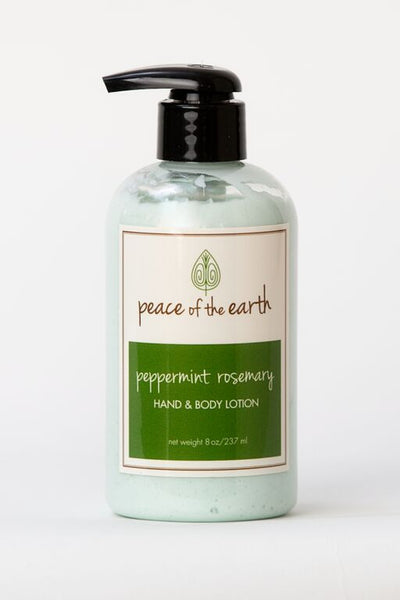 Peppermint Rosemary Hand and Body Lotion - Peace of the Earth