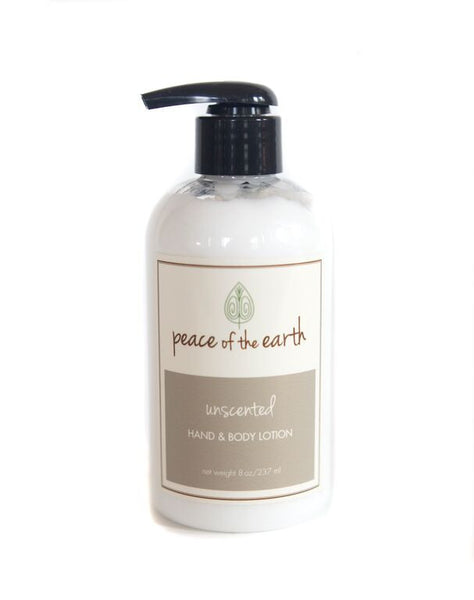 Unscented Hand and Body Lotion - Peace of the Earth