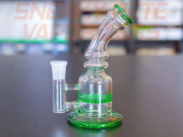 The Fun Guy - Honeycomb Percolator - 14mm Female Joint,Glass Piece - www.sneakypetestore.com